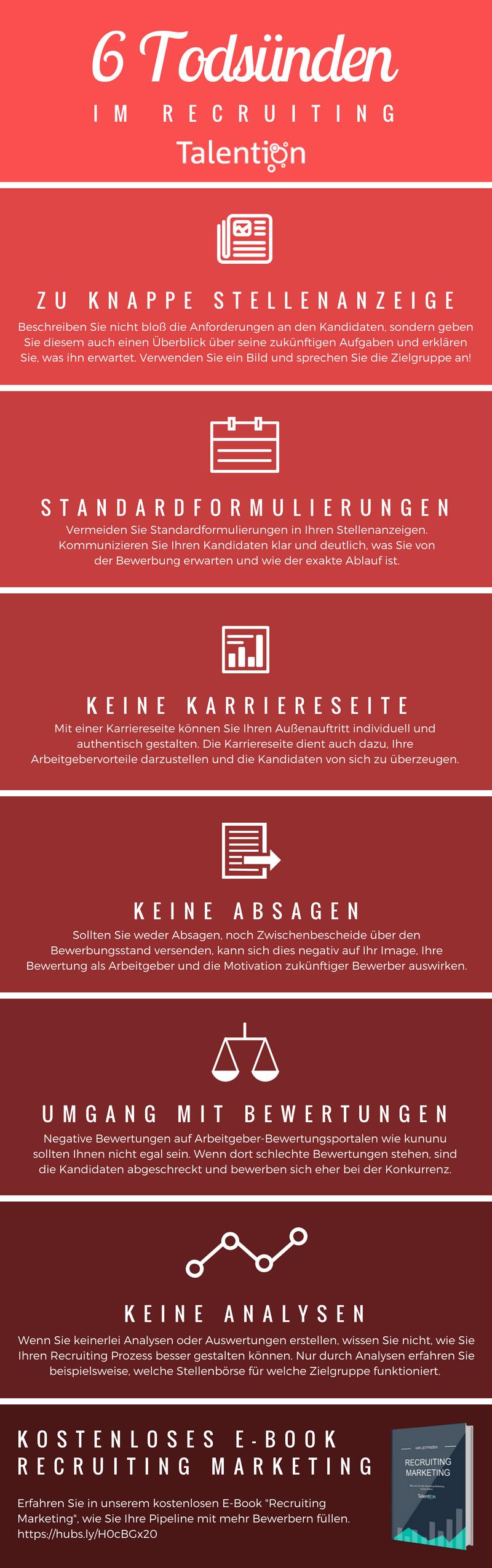 6 Todsünden Infografik