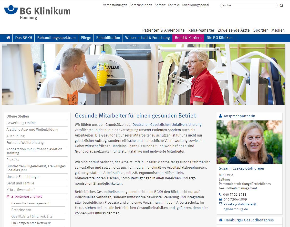 Employer Branding Beispiel BG Klinikum Hamburg
