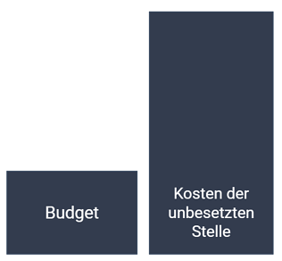 Budget und Kosten der unbesetzten Stelle