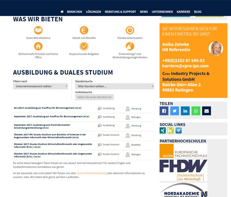 4 Beispiele für gelungene Jobportale Cpro Industry Projects & Solutions GmbH