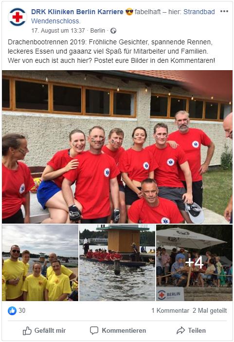 DRK Kliniken Berlin Facebook Employer Branding