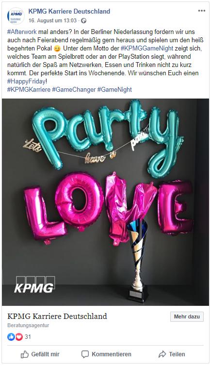 KPMG Facebook Employer Branding