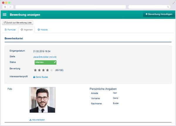 Bewerberverwaltung, Bewerbermanagement-Software