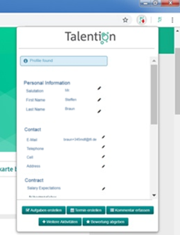 Active Sourcing Tool Talention Software