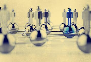 3d stainless human social network as vintage style concept.jpeg
