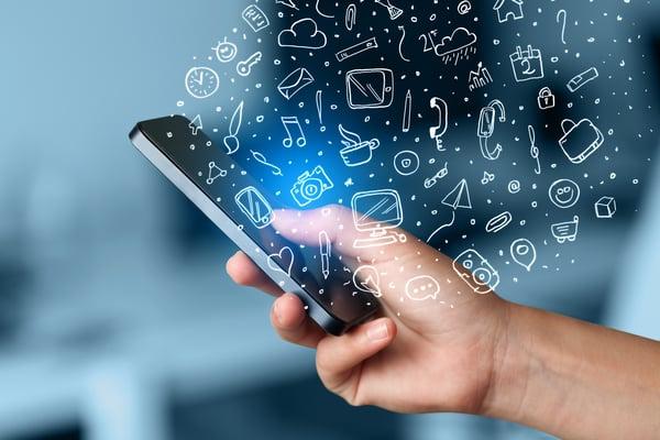 Statistiken zum Employer Branding, Instagram, Smartphone, Icons