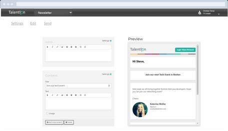 Personalvermittler - Newsletter Tool