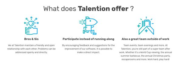 Talention Vorteile