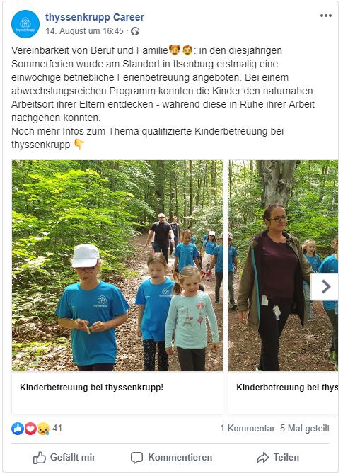 Thyssenkrupp Employer Branding Facebook