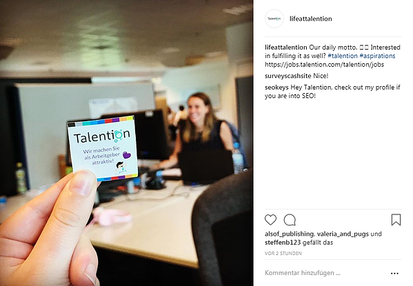 Talention Instagram Account