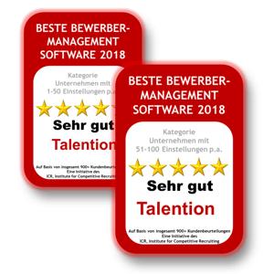 Deutschlands Beste Bewerbermanagement Software 2018 / 2019: Talention zweifach ausgezeichnet
