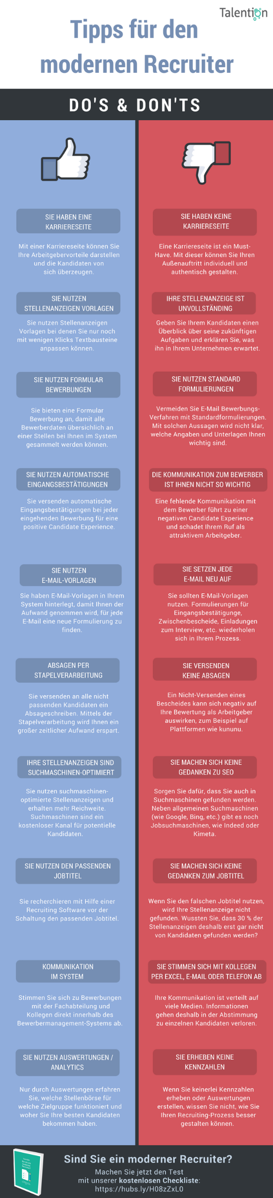 Infografik: Tipps für den modernen Recruiter