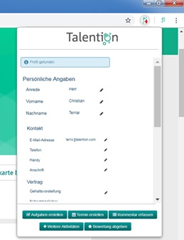 Sourcing Tool Talention