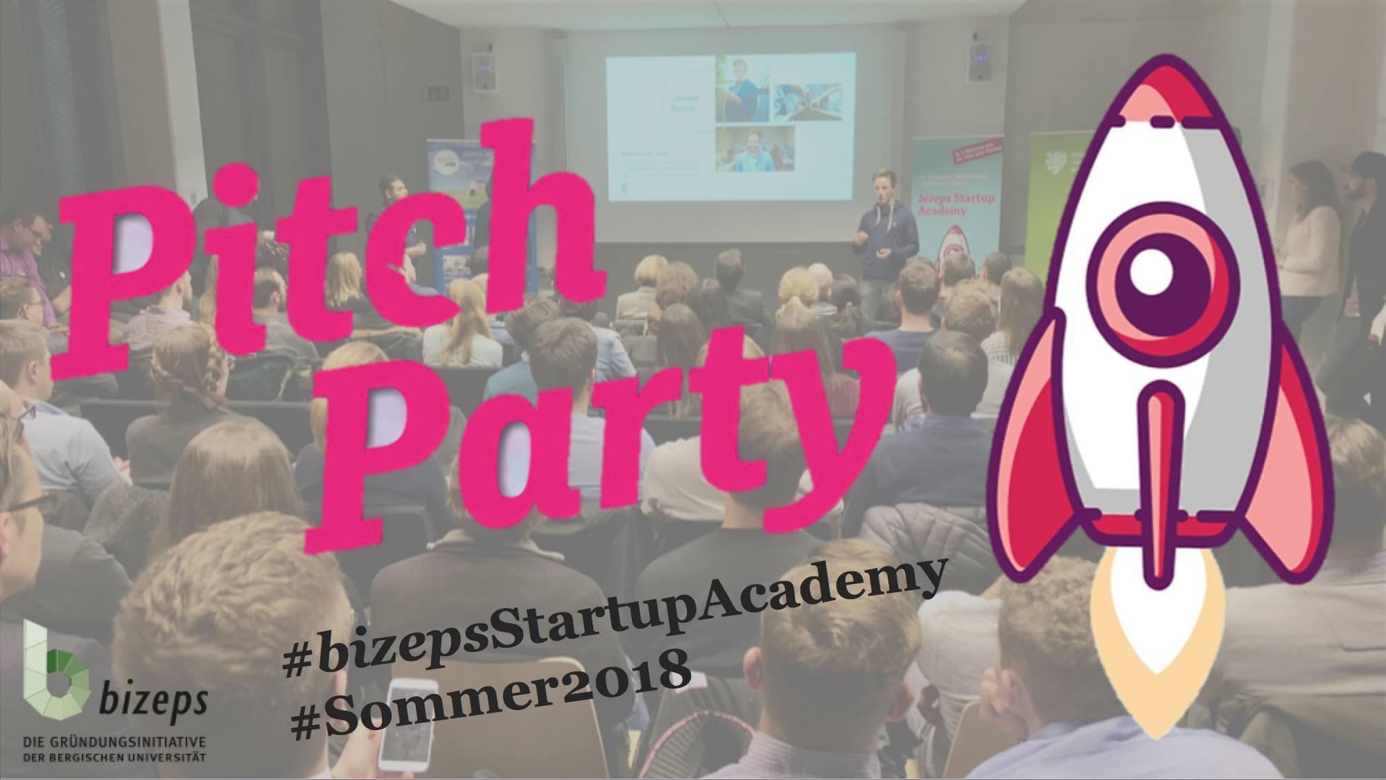 Ankündigung: Talention bei der Pitch Party 2018 der Bergischen Universität Wuppertal