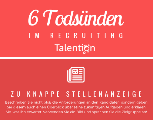 Infografik:6 Todsünden im Recruiting