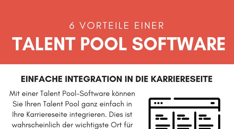 6 Vorteile einer Talent Pool Software - Infografik