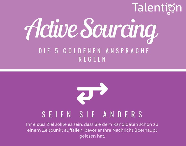 Infografik: Active Sourcing - Die 5 goldenen Ansprache Regeln