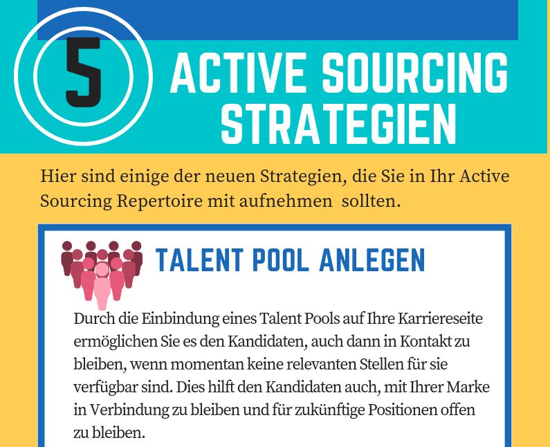 Infografik: 5 Active Sourcing Strategien, die jeder Recruiter nutzen sollte