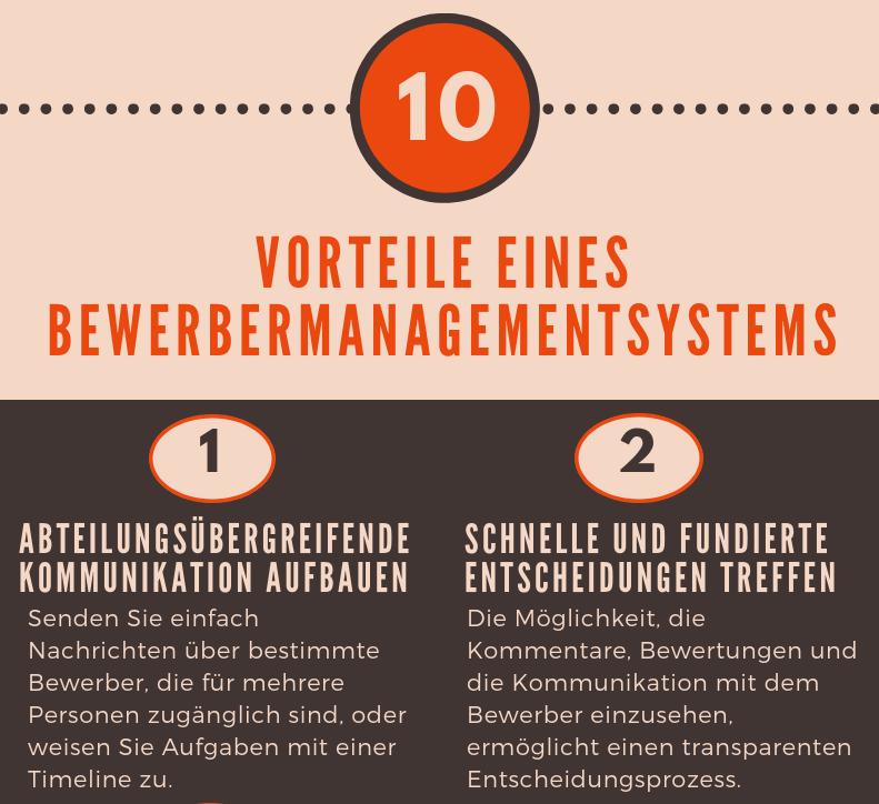Infografik: 10 Vorteile von einem Bewerbermanagementsystem