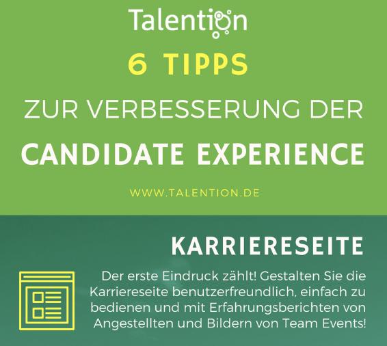Infografik:6 Tipps zur Verbesserung der Candidate Experience