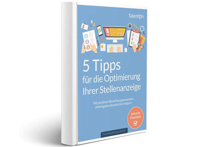 E-Book 5 Tipps für die Optimierung Ihrer Stellenanzeige