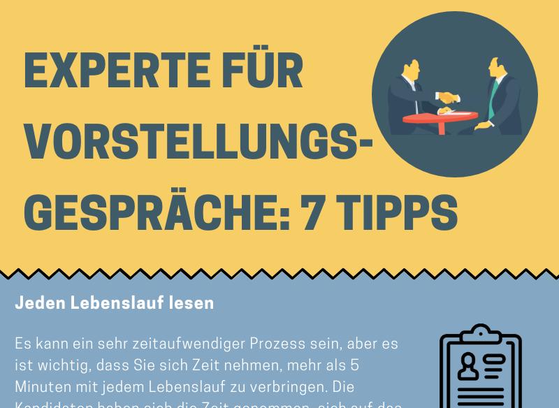 Experte für Vorstellungsgespräche: 7 Tipps - Infografik
