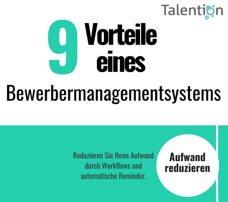 Infografik: 9 Vorteile eines Bewerbermanagementsystems