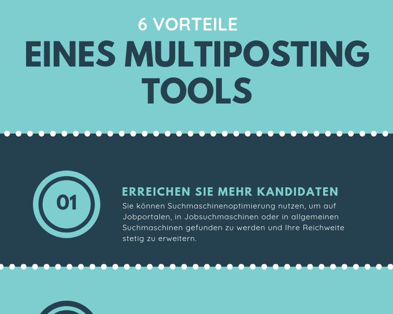 Infografik: 6 Vorteile eines Multiposting Tools