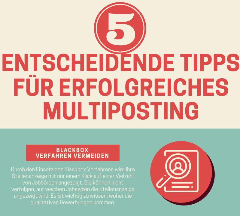 Infografik:5 entscheidende Tipps für erfolgreiches Multiposting