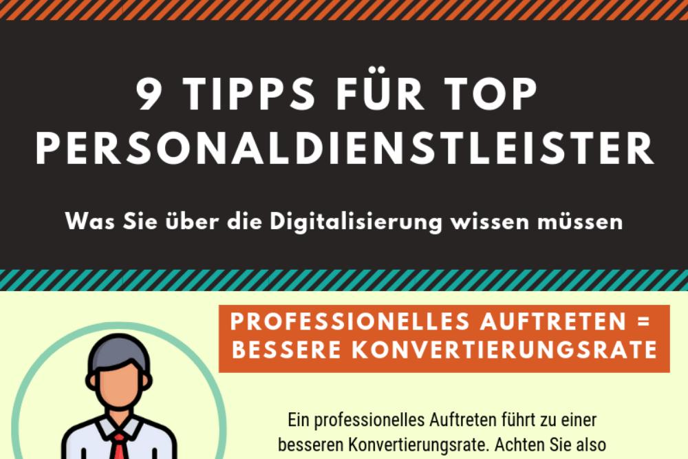 Infografik - 9 Tipps für Top Personaldienstleister