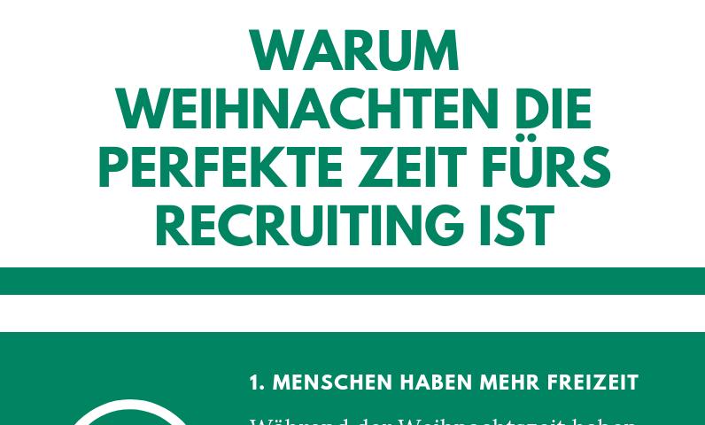 Infografik:Warum Weihnachten die perfekte Zeit fürs Recruiting ist