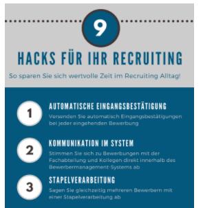 Infografik: 9 HR Hacks für Ihr Recruiting