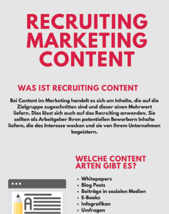 Infografik: 5 einfache Schritte für Content Marketing im Recruiting Marketing