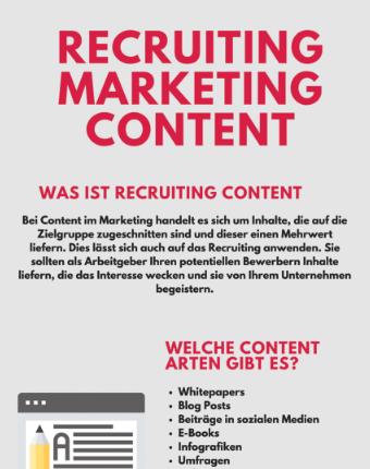 Infografik: 5 einfache Schritte für Content Marketing im Recruiting Marketing